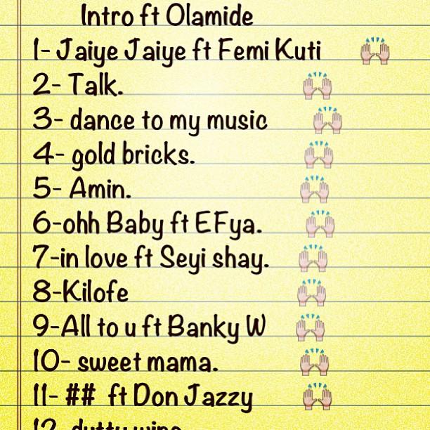 Unofficial Tracklist For Wizkid's Sophomore Album